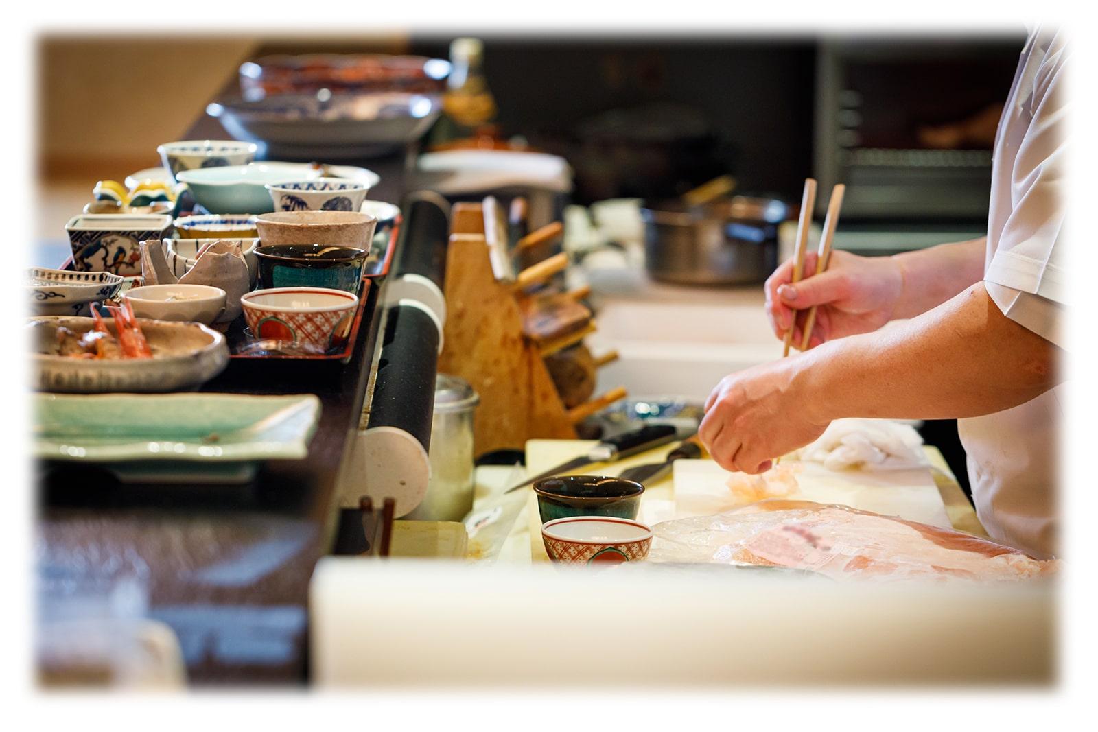 料理人の調理風景