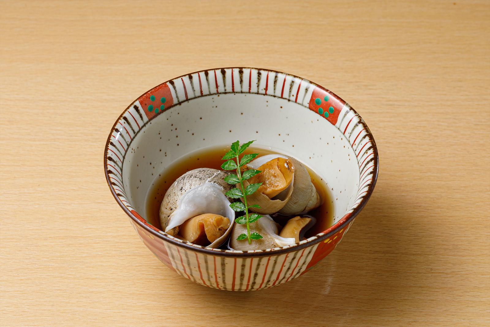 バイ貝の煮付け