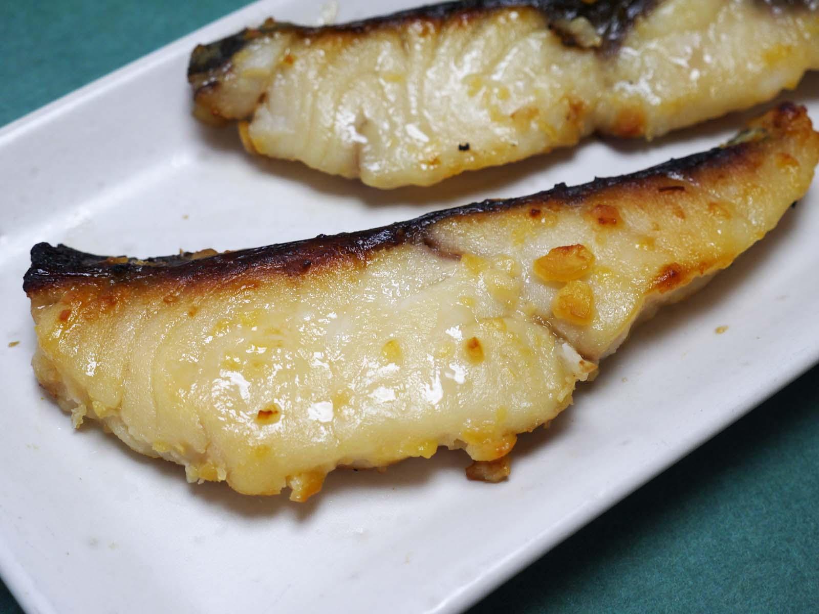 ミナミカゴカマス(銀さわら)調理例